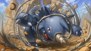 Rating: Safe Score: 17 Tags: close clouds desert nobody pokemon rhydon sky supearibu watermark User: otaku_emmy