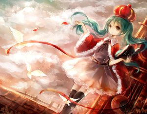Rating: Safe Score: 84 Tags: aqua_hair book crown dress hanchan hatsune_miku the_beast._(vocaloid) twintails vocaloid User: FormX