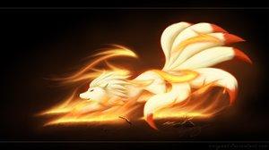Rating: Safe Score: 103 Tags: animal fox multiple_tails ninetales pokemon ricegnat tail watermark User: mattiasc02
