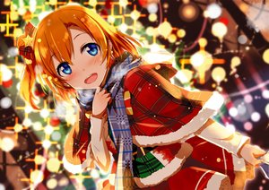 Rating: Safe Score: 207 Tags: blue_eyes blush bow christmas gochou_(comedia80) kousaka_honoka love_live!_school_idol_project orange_hair scarf short_hair User: RyuZU