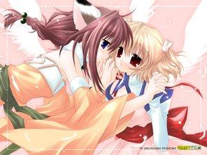 Rating: Safe Score: 31 Tags: angel_rabbie animal_ears catgirl sakurazawa_izumi wings User: Oyashiro-sama