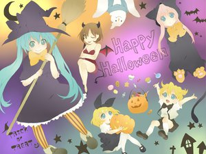 Rating: Safe Score: 15 Tags: cosplay demon group halloween hatsune_miku hoodie kagamine_len kagamine_rin kaito male megurine_luka meiko twintails vocaloid witch User: HawthorneKitty