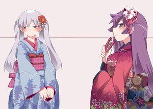 Rating: Safe Score: 23 Tags: 2girls bakemonogatari hammer_(sunset_beach) japanese_clothes kimono monogatari_(series) owarimonogatari senjougahara_hitagi sodachi_oikura User: FormX