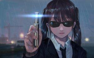 Rating: Safe Score: 64 Tags: black_hair jun_(5455454541) men_in_black night original parody rain short_hair sunglasses water User: SciFi