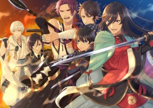 Rating: Safe Score: 3 Tags: all_male anthropomorphism black_hair blue_eyes braids brown_eyes brown_hair elbow_gloves gloves group gun katana long_hair male natsunooto_010 purple_eyes purple_hair sarashi short_hair spear sword tagme_(character) tie touken_ranbu underwear weapon white_hair yellow_eyes User: RyuZU