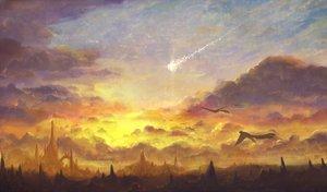 Rating: Safe Score: 55 Tags: animal bird bou_nin clouds landscape nobody original scenic sky sunset User: Flandre93