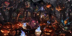 Rating: Safe Score: 143 Tags: banette chandelure drifblim drifloon dusknoir gastly gengar gourgeist group halloween litwick misdreavus phantump pokemon pumpkaboo pumpkin rotom sakpi stairs tree trevenant User: Maboroshi