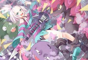 Rating: Safe Score: 133 Tags: aqua_eyes boots dress guitar homika_(pokemon) instrument koffing pokemon scolipede transistor trubbish white_hair User: FormX