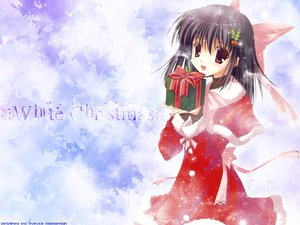 Rating: Safe Score: 10 Tags: christmas red_eyes snow winter User: Oyashiro-sama