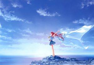Rating: Safe Score: 156 Tags: abhar barefoot clouds deep_blue_sky_&_pure_white_wings misaki_kurehito miyamae_tomoka ponytail red_hair scan scenic school_uniform sky water User: gnarf1975