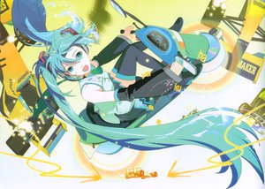 Rating: Safe Score: 47 Tags: 119 car green_hair hatsune_miku headphones long_hair motorcycle vocaloid User: rargy