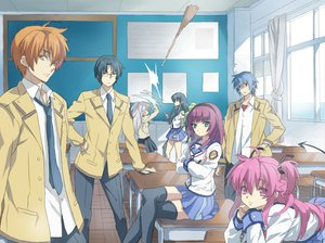 Rating: Safe Score: 111 Tags: angel_beats! glasses hinata_hideki nakamura_yuri otonashi_yuzuru pink_hair ribbons scarf shiina tachibana_kanade takamatsu white_hair yui_(angel_beats!) yukiya User: AliceWonderWorld