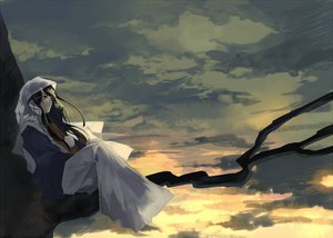 Rating: Safe Score: 51 Tags: clouds kyouichi long_hair original skirt sky sunset tree yellow_eyes User: STORM