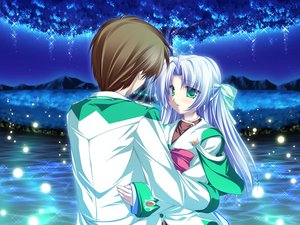 Rating: Safe Score: 13 Tags: alicia_infans bow game_cg green_eyes long_hair magus_tale night purple_hair school_uniform tenmaso water whirlpool User: Oyashiro-sama