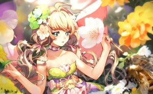 Rating: Safe Score: 49 Tags: blonde_hair flowers green_eyes original signed twintails type-alpha User: sadodere-chan