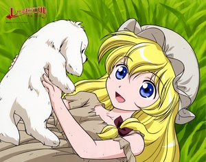 Rating: Safe Score: 2 Tags: animal blonde_hair blue_eyes cosette dog grass les_miserables_shoujo_cosette User: Oyashiro-sama