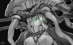 Rating: Safe Score: 161 Tags: anthropomorphism bodysuit bosshi breasts green_eyes headdress kantai_collection polychromatic signed sketch wo-class_aircraft_carrier User: otaku_emmy