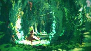 Rating: Safe Score: 107 Tags: forest green green_hair kazami_yuuka leaves niy_(nenenoa) scenic skirt touhou tree User: Flandre93