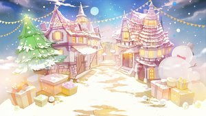 Rating: Safe Score: 17 Tags: bow building christmas clouds hat nobody original scenic sibyl sky snow snowman stairs tree User: RyuZU