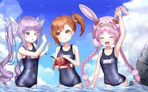 Rating: Safe Score: 36 Tags: akane_mimi clouds hikawa_kyoka hodaka_misogi loli mannack princess_connect! school_swimsuit sky swimsuit twintails water wink User: BattlequeenYume