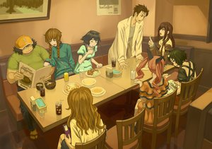 Rating: Safe Score: 97 Tags: amane_suzuha black_hair blue_eyes book braids brown_eyes brown_hair drink faris_nyannyan food group hashida_itaru hat kiryuu_moeka long_hair m_george makise_kurisu okabe_rintarou phone pink_hair shiina_mayuri short_hair steins;gate tie twintails urushibara_ruka User: FormX