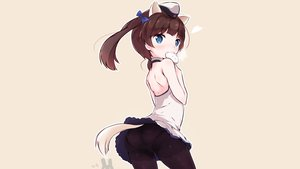Rating: Safe Score: 96 Tags: animal_ears ass blue_eyes blush brave_witches brown_hair food georgette_lemare hat mikkabi_bin panties pantyhose tail twintails underwear upskirt world_witches_series User: Shaggy410