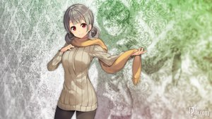 Rating: Safe Score: 101 Tags: dlsite.com gray_hair original pantyhose paseri red_eyes scarf xi_lily User: winzz123