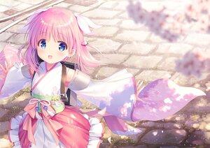 Rating: Safe Score: 83 Tags: blue_eyes haizakura_(prima_doll) japanese_clothes loli na-ga petals pink_hair prima_doll User: Nepcoheart