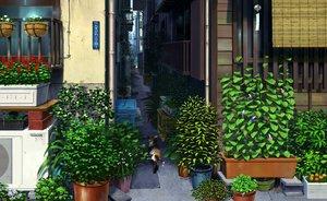 Rating: Safe Score: 98 Tags: animal building cat flowers leaves nobody original pei_(sumurai) scenic User: FormX