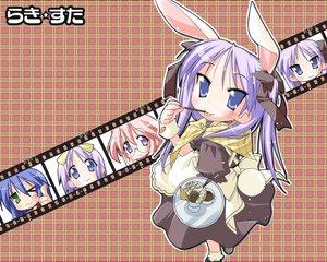Rating: Safe Score: 8 Tags: animal_ears bunny_ears bunnygirl cosplay food hiiragi_kagami hiiragi_tsukasa izumi_konata lucky_star pocky takara_miyuki waitress User: Oyashiro-sama