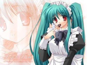 Rating: Safe Score: 15 Tags: izumi_makoto maid red_eyes valentine User: Oyashiro-sama