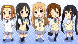 Rating: Safe Score: 26 Tags: akiyama_mio black_hair blue_eyes blush brown_eyes brown_hair chibi diesel-turbo group headband hirasawa_yui kneehighs k-on! kotobuki_tsumugi long_hair nakano_azusa pantyhose school_uniform skirt tainaka_ritsu twintails wink User: RyuZU