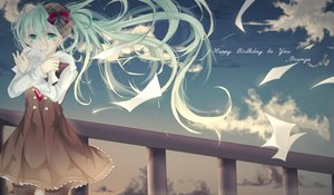 Rating: Safe Score: 5 Tags: blue_hair hatsune_miku long_hair sky twintails vocaloid User: humanpinka