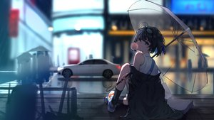 Rating: Safe Score: 102 Tags: glasses honkai_impact jpeg_artifacts kuo_(kuo114514) rain seele_vollerei short_hair umbrella water User: Dreista