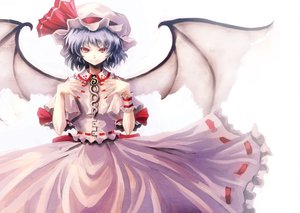 Rating: Safe Score: 26 Tags: blue_hair hat red_eyes remilia_scarlet short_hair touhou vampire wings User: Tensa