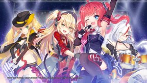 Rating: Safe Score: 49 Tags: admiral_hipper_(azur_lane) anthropomorphism aqua_eyes azur_lane bandaid bicolored_eyes blonde_hair boots cape choker compile_heart downes_(azur_lane) dress drums elbow_gloves gloves green_eyes group guitar hat hornet_(azur_lane) instrument long_hair microphone ponytail red_hair san_diego_(azur_lane) shorts skirt tagme_(artist) thighhighs tie twintails uniform white_hair wink zettai_ryouiki User: Nepcoheart