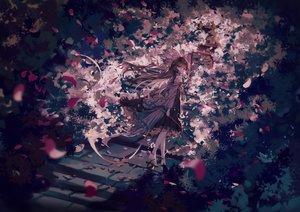 Rating: Safe Score: 87 Tags: brown_hair hakurei_reimu japanese_clothes long_hair miko petals polychromatic stairs torii touhou yasato User: RyuZU
