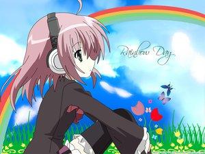 Rating: Safe Score: 15 Tags: green_eyes headphones pink_hair rainbow sakurano_kurimu school_uniform seitokai_no_ichizon User: 秀悟