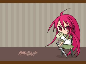 Rating: Safe Score: 6 Tags: food shakugan_no_shana shana shana_tan sword weapon User: Oyashiro-sama