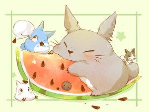 Rating: Safe Score: 37 Tags: food fruit tonari_no_totoro totoro ushiinu watermelon User: otaku_emmy