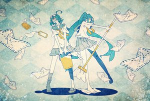 Rating: Safe Score: 33 Tags: 2girls glasses gumi hatsune_miku long_hair nonogawa polychromatic seifuku short_hair twintails vocaloid yellow_eyes User: MissBMoon