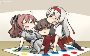 Rating: Safe Score: 32 Tags: anthropomorphism armor blush brown_eyes brown_hair chibi dress gloves gray_hair hamu_koutarou headband japanese_clothes kantai_collection long_hair ponytail shoukaku_(kancolle) skirt taihou_(kancolle) thighhighs uss_saratoga_(cv-3) User: otaku_emmy