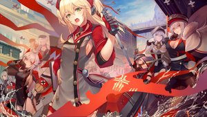 Rating: Safe Score: 118 Tags: admiral_hipper_(azur_lane) aircraft anthropomorphism aqua_eyes azur_lane bismarck_(azur_lane) blonde_hair clouds deutschland_(azur_lane) dress garter_belt gloves goggles graf_zeppelin_(azur_lane) green_eyes hat karlsruhe_(azur_lane) kyoeiki leipzig_(azur_lane) long_hair orange_eyes prinz_eugen_(azur_lane) sky stockings tagme_(character) thighhighs tirpitz_(azur_lane) uniform white_hair yellow_eyes z21_(azur_lane) z46_(azur_lane) User: RyuZU