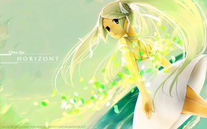Rating: Safe Score: 30 Tags: dress hatsune_miku petals summer_dress twintails vocaloid water white_hair User: 秀悟