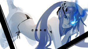 Rating: Safe Score: 106 Tags: bikini black_rock_shooter blue_eyes blue_hair keuma kuroi_mato swimsuit tagme User: opai