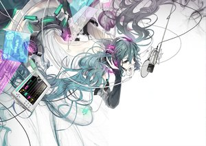 Rating: Safe Score: 108 Tags: akiakane hatsune_miku headphones microphone miku_append twintails vocaloid white User: HawthorneKitty