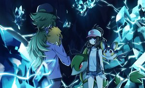 Rating: Safe Score: 89 Tags: blue blue_eyes brown_hair emolga green_hair group hat joltik long_hair male n pokemon ponytail purple_eyes red_eyes servine shorts touko_(pokemon) transistor User: Flandre93