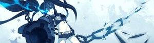 Rating: Safe Score: 101 Tags: black_hair black_rock_shooter blue_eyes chain dualscreen gun kuroi_mato twintails weapon User: meccrain