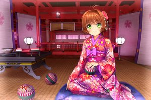 Rating: Safe Score: 77 Tags: card_captor_sakura green_eyes headdress japanese_clothes kimono kinomoto_sakura moonknives orange_hair scenic User: gnarf1975