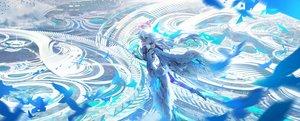 Rating: Safe Score: 61 Tags: animal bird halo kvpk5428 long_hair mechagirl original wings User: Dreista